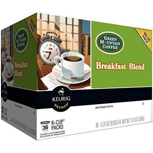 Keurig Green Mountain Coffee Breakfast Blend Coffee K-Cups, 0.31 oz, 36 ct