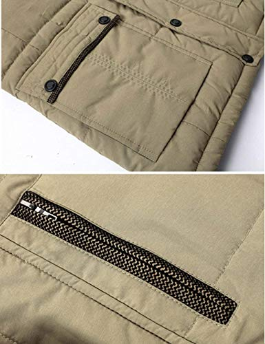 Cap Jackets Detachable Winter Quilted Zipper Schwarz Windproof Men's Parka Autumn Warm Ntel Cotton Hooded Jacket Thicker Outdoor Men's Apparel PSqxFTwCS