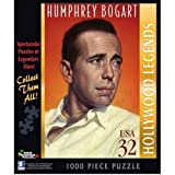Humphrey Bogart Postage Stamp Jigsaw Puzzle by White Mountain