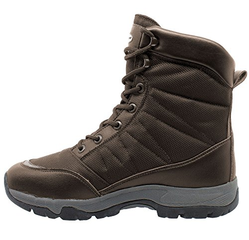 Man Ice Boot lining lock thinsulate 3220 KEFAS WARM Brown K outsole Winter Snow dwI61H