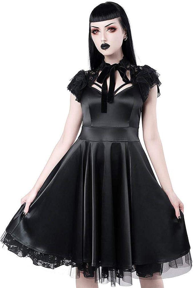 Killstar Robe en satin Dear Darkness Doll