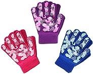 EvridWear Boys Girls Magic Stretch Gripper Gloves 3 Pair Assortment, One Size