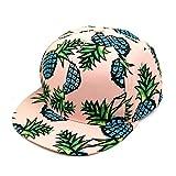 TOTOD Hats for Women Pineapple Snapback Bboy Hat Adjustable Baseball Cap Hip-hop Hat Pink