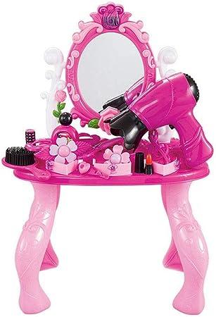 Jinzsnk Juego de Maquillaje para niña Juego de Juguete de Mesa de Vestir de Princesa for niña Juego de Juguete for niños para niños (Color : Pink, Size : 47 * 18 * 32cm): Amazon.es: Hogar