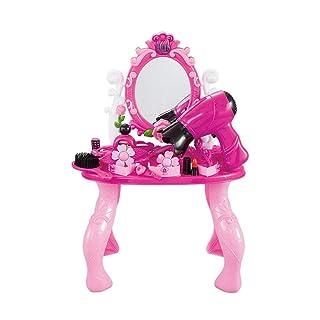 Goodvk Comò per Trucco Specchio per Ragazza Glamour Set da Gioco Giocattolo da Bambino Toy Princess Princess Set Giocattolo (Colore : Rosa, Dimensione : 47 * 18 * 32cm)