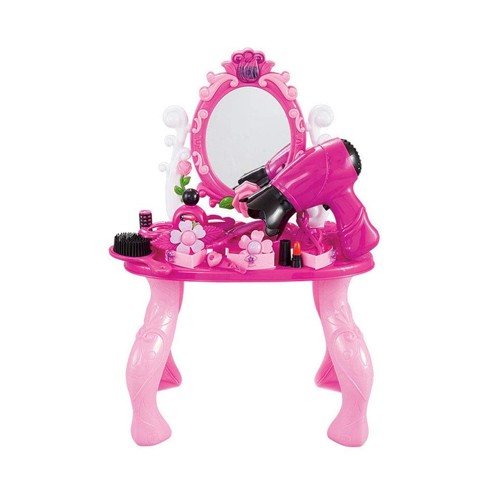 Girls Dressing Table Set Children's Play House Toy Girl Princess Dressing Table Toy Set (Color : Pink, Size : 471832cm)