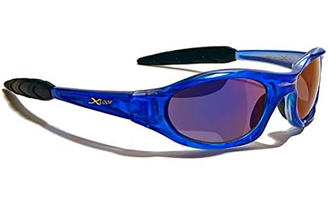 X-Loop Lunettes de Soleil - Sport - Cyclisme - Ski - Tennis - Moto - Plage / Mod. 010P Bleu Translucide Ice Blue Iridium R2CURV7