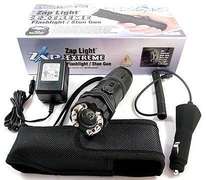 Extreme ZAP Light 1 Million Volt Rechargeable Stun Gun & Flashlight w/ Holster - 2 YEAR WARRANTY