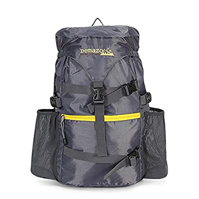 Denazo Outdoors - Hiking Day Pack / Ergonomic Construction / High Capacity Flip Top / Ultra Light and Breathable
