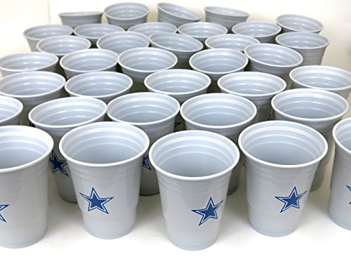 Party Supplies Dallas (Dallas Cowboys Jumbo party cups set of 36. Large plastic 18 0z. game day plastic cups)