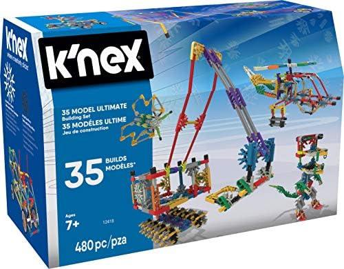 K'NEX – 35 Model Building Set – 480 Pieces – For Ages 7+ Construction Education Toy (Amazon Exclusive)