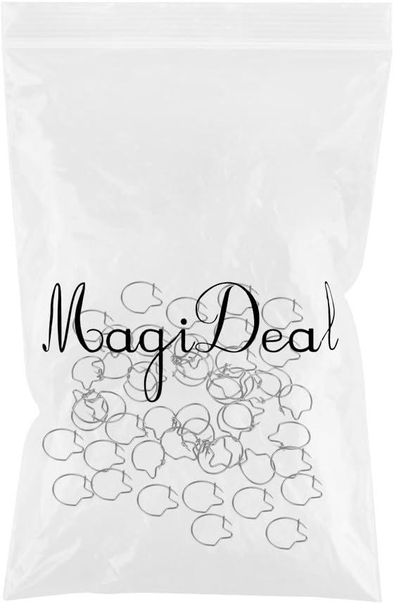 MagiDeal 50pcs Carpe Pistolets de Mouche de P/êche Anneaux Clip dApp/ât /Équipement Crochets de P/êche