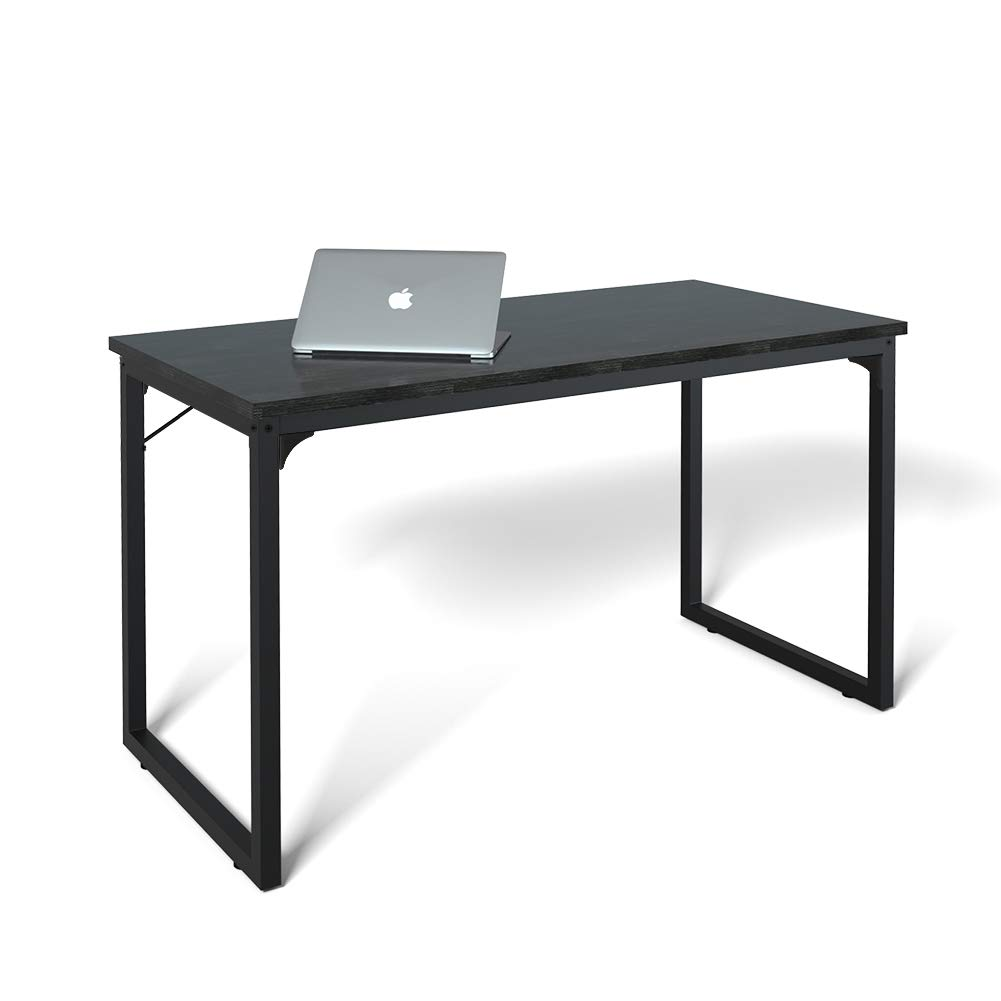 Computer Desk 47'', Modern Simple Style Desk for Home Office, Sturdy Writing Desk, Coleshome, Black