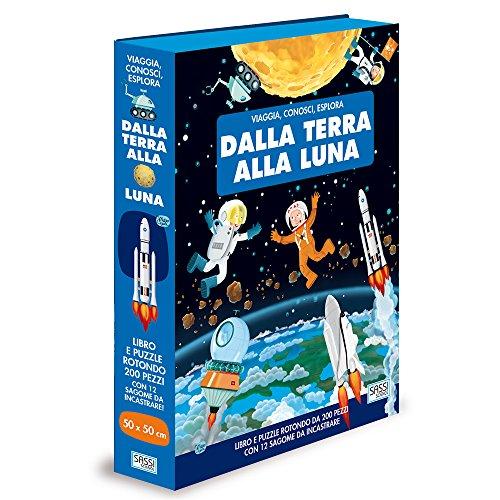 Turtleback libro piu puzzle con tema dalla terra alla luna edizione