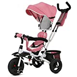 SI YU Baby Stroller High Landscape Foldable Pram Baby Carriage Very Easy Portable Folding Baby Umbrella Car,for 1-6 Years Old (Color : Pink)