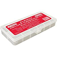 Elenco Electronics CAPK-150DEL 150 Capacitor Component Kit in Plastic Case