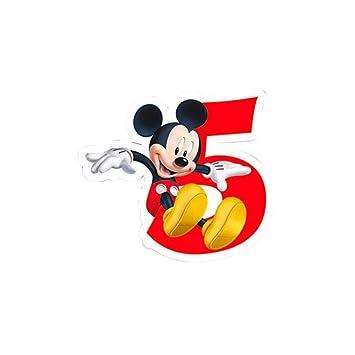 Vela 5 cumpleaños Mickey Disney Playful: Amazon.es: Juguetes ...