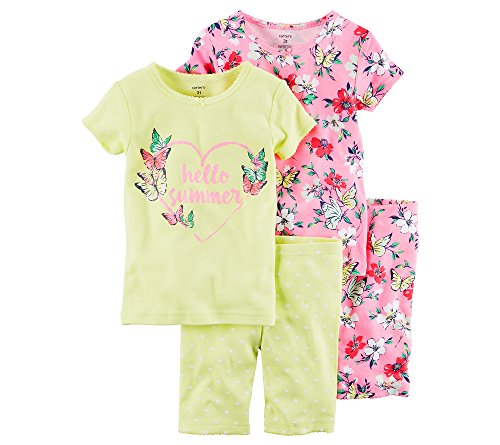 Carter's Girls' 4-Piece Summer Sleepwear Set 12 - Summer Mall Set