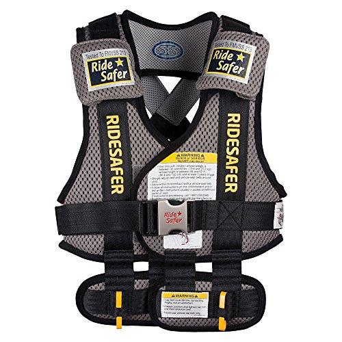RideSafer Type 3 GEN3 Travel Vest - Gray/Black - Small by RideSafer (Image #11)