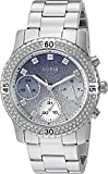 guess crystal watch - GUESS Women's Stainless Steel Crystal Casual Watch, Color: Silver-Tone (Model: U0774L6)