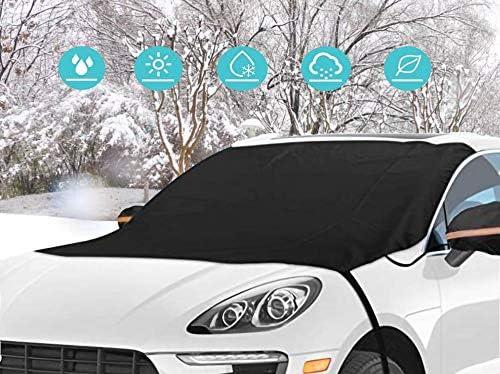 190x94cm Couverture de Neige de Voiture Housse de Pare-brise de Voiture Avec Deux Housses de R/étroviseur Protection Universelle Pour Pare-brise