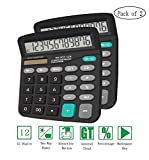 Basic Large Display big button Calculator Black Pack of 2 12-Digit Deal (Small Image)