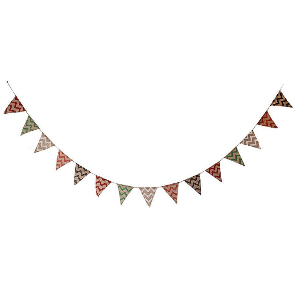PIXNOR Baner bandera bander/ín Tejido guirnaldas banderas tri/ángulo decoraci/ón para boda r/ústico