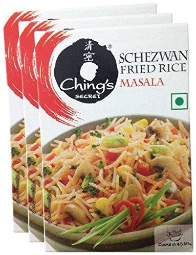Ching's Secret Schezwan Fried Rice Masala, 20 grams (0.70 oz) Pack of 3 - Total 60 grams- ()