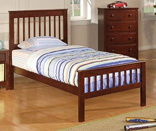 Set Bed Chestnut - Parker Transitional Chestnut Twin Bed Chestnut/Transitional/Twin