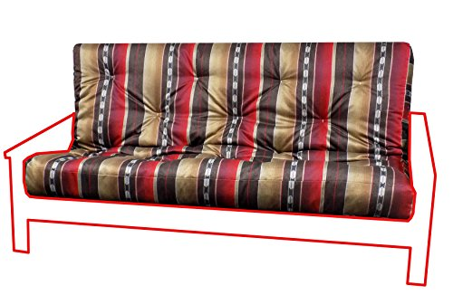 Southwestern Tiger - Royal Sleep Products Memory Foam Futon Mattress Upholstery Cover Factory Direct Southwestern Print F/Q (Queen, Taos Tiger)