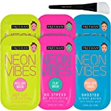Freeman Neon Mask Collection (Pack of 6) + Bonus Brush Clay Mask Oil