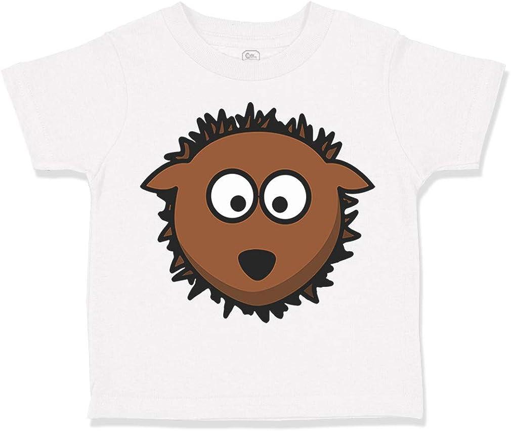 Custom Toddler T-Shirt Hedgehog Head A Cotton Boy /& Girl Clothes