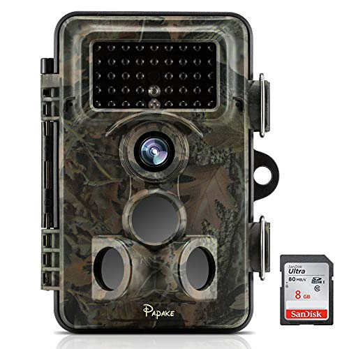"Papake Trail Game Camera 12MP 1080P HD Hunting Camera 120° Wide Angle for Surveillance Scouting with 850nm Night Vision 3 Zone Infrared Sensor, 0.4S Trigger Speed 46 Pcs IR LEDs 2.1""LCD Screen For Sale"