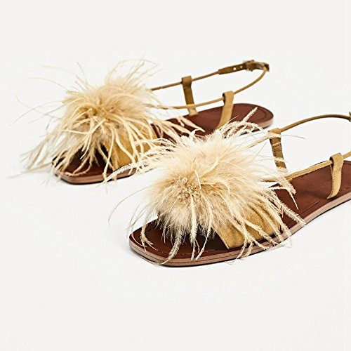 Shoes Shoes JUWOJIA Buckle Holiday Summer Women'S Flat Ginger Bohemia Sandals Women'S New FwqnaxZvwg