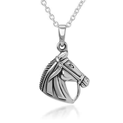 Amazon 925 sterling silver horse pendant necklace 18 jewelry 925 sterling silver horse pendant necklace 18quot aloadofball Gallery