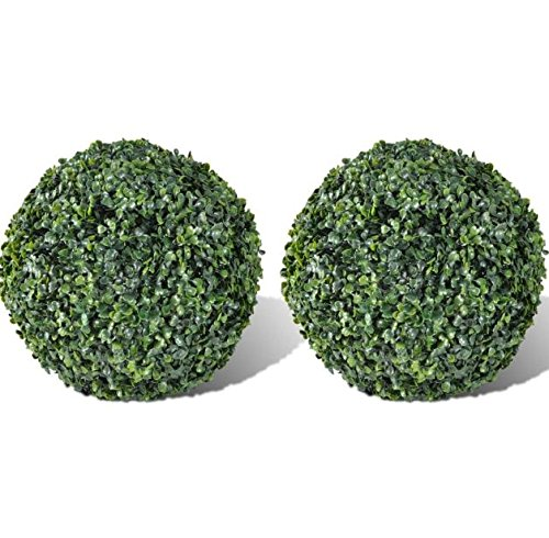 Leaf Ball Topiary (SKB Family Boxwood Ball Artificial Leaf Topiary Ball 10.6