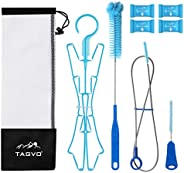TAGVO Hydration Bladder Tube Brush Cleaning Kit, 6 in 1 Water Bladders Cleaner Set - Long Brush, Small Brush f