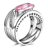 Caperci-Sterling-Silver-Cross-Large-Big-Stone-Created-Pink-Sapphire-Gemstone-Cubic-Zirconia-Ring