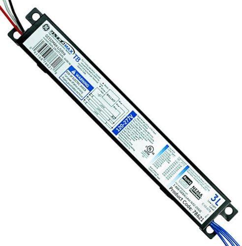3 Lamp Fluorescent Ballast 0.77 Ballast Factor GE UltraMax L 78621 - F32T8-120//277 Volt Instant Start