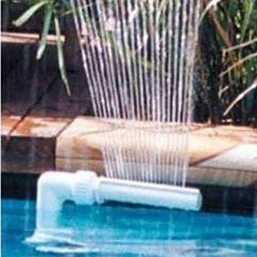 HITECHLIFE Kit de Fuente de Cascada para Piscina Boquilla de Fuente de Cascada Ajustable de PVC Piscinas de esterilizaci/ón de Agua SPA Decoraciones de jard/ín Accesorios de Piscina