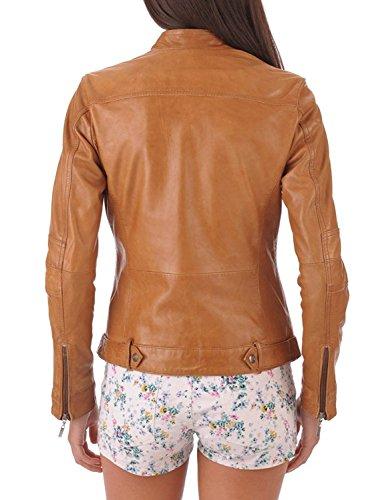 BENJER-Skins-Womens-Lambskin-Leather-Bomber-Motorcycle-Jacket