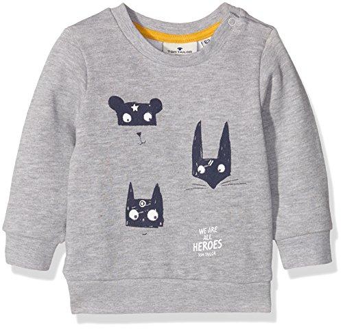 TOM TAILOR Kids Baby-Jungen Hero Print Sweatshirt, Grau (Medium Grey Melange 2482), 92