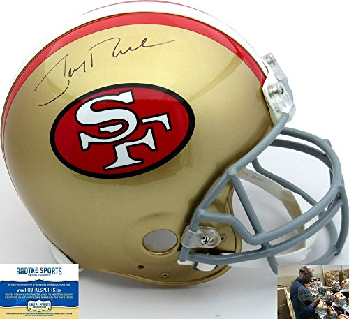 Jerry Rice Autographed/Signed San Francisco 49ers Riddell Throwback 1964-1995 Style (1995 Authentic Throwback Helmet)