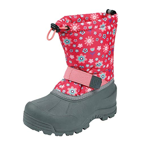 Northside Girls' Frosty Snow Boot, Fuchsia/Coral, 5 Medium US Little Kid