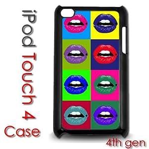 IPod Touch 4 4th gen Touch Plastic Case - Pop Color Art Lips