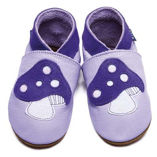 Inch Blue - 1841 L - Chaussures Bébé Souples - Toadstool - Lilas - T 20-22 cm
