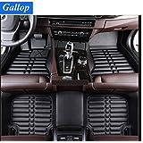 Gallop Full Set Waterproof Leather Custom Fit Floor Liners Floor Mats for Landrover Range Rover Sport 2014-2016 5 seats - Black