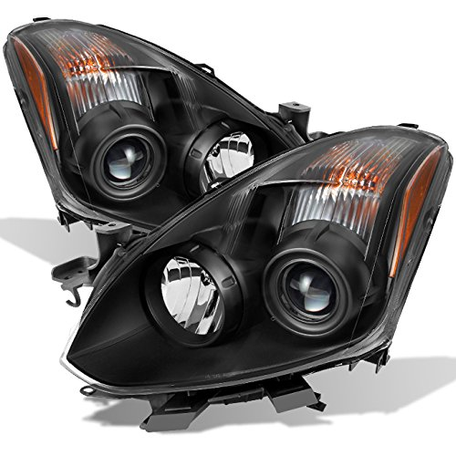 For [JDM Style] 2010 2011 2012 2013 Altima 2 Door Coupe Black Halogen Type Projector Headlights Pair Set