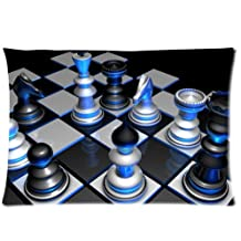 Huirong Pillowcase Design style chess pieces volume color game Pillow Protector, Best Pillow Cover - standard size 20 X 30 inch one side printing