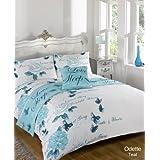 Odette Teal Quilt Bed in a Bag set Single Double King Size Super King Size